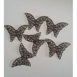 Papillon métal BRONZE (à...