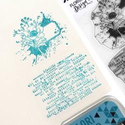 Tampons Clear Fleur étiquette