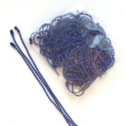 Chainette boule bleu 10cm -...