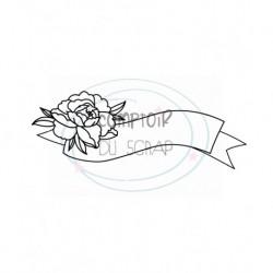 Tampon Bannière florale