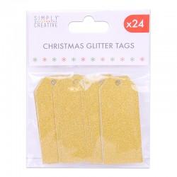 Tags Glitter  Gold
