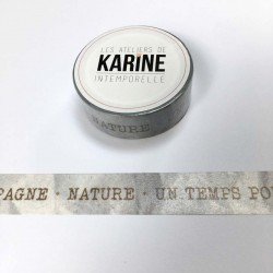 Masking Tape Textes kraft -...