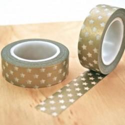 Masking tape étoiles gold