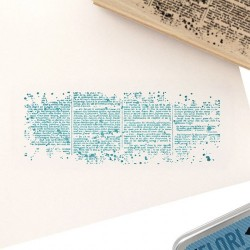 Tampon bois Texte horizontal