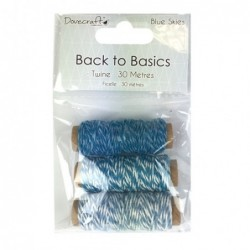 "Backer Twine Lot de 3 ""Blue..."